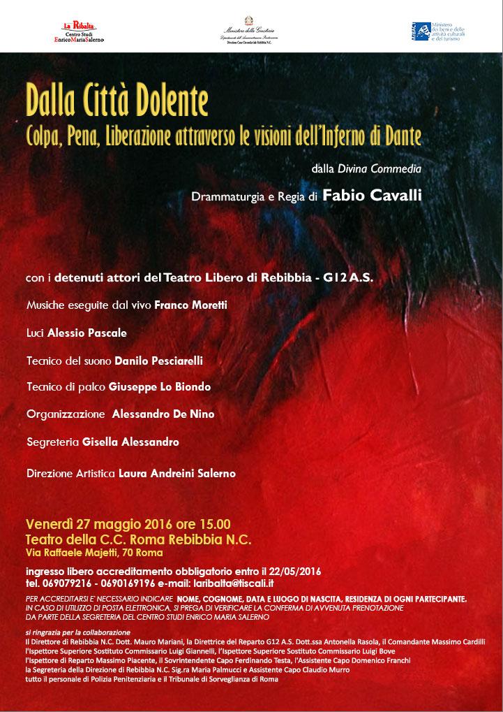 Dalla Città Dolente dalla Divina Commedia - 27 maggio 2016 - ore 15 - Teatro della C.C. Roma Rebibbia N.C.