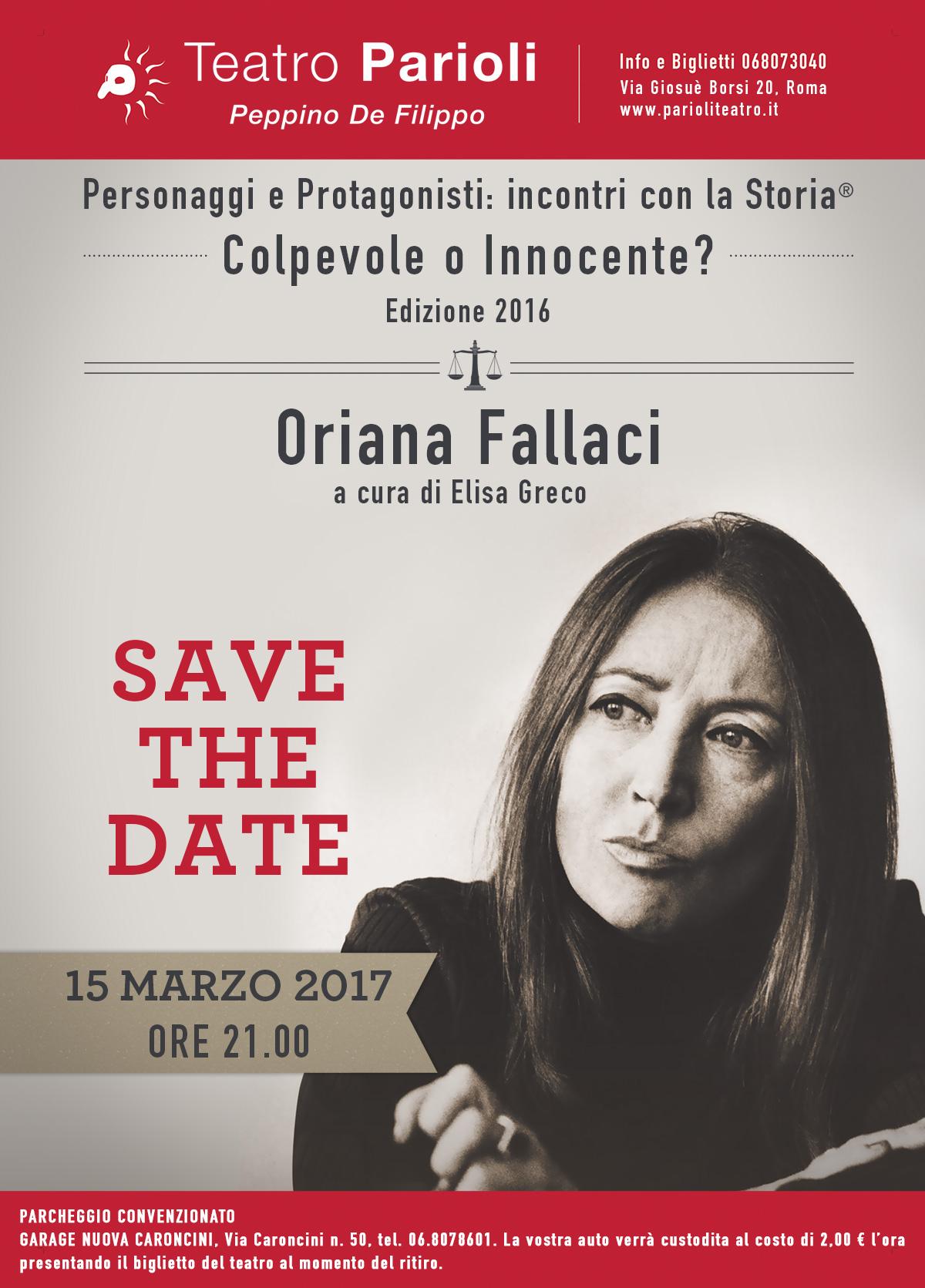 Save the date - La Storia a Processo! -15 marzo 2017 – ore 21 - Teatro Parioli Peppino De Filippo - Roma