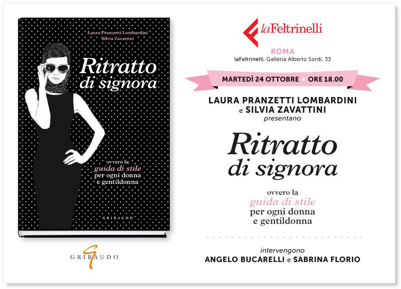 """Presentazione libro """"Ritratto di signora"""" - 24 ottobre 2017 - ore 18 - Galleria Alberto Sordi, 33 - Roma"""