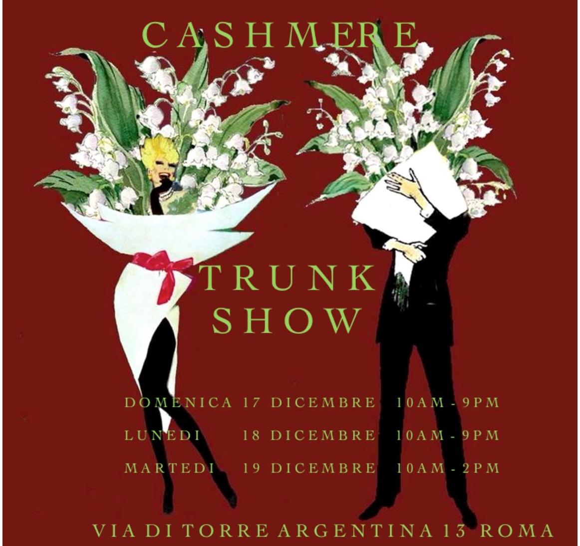 TRUNK SHOW natalizio di eccellenza italiana - 17 - 18 - 19 dicembre 2017 - Via di Torre Argentina 13 - Roma