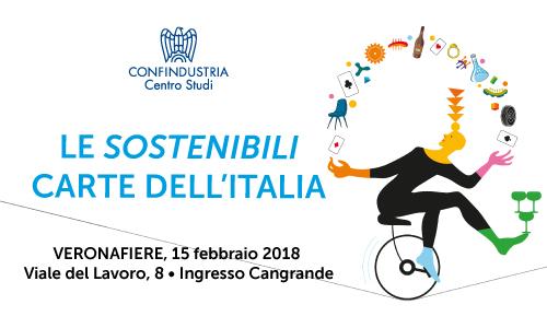 """""""Le Sostenibili Carte dell'Italia"""" - Veronafiere - 15 febbraio 2018 - Viale del Lavoro, 8 - Ingresso Cangrande"""
