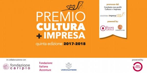 PREMIO CULTURA + IMPRESA 2017- 2018 - Il 28 febbraio 2018 termine di presentazione dei progetti