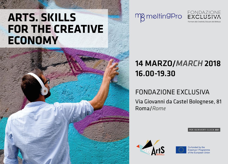 """Fondazione Exclusiva: """"Arts. Skills for the creative economy"""" - 14 marzo 2018 - ore 16 - Via Giovanni da Castel Bolognese, 81 - Roma"""