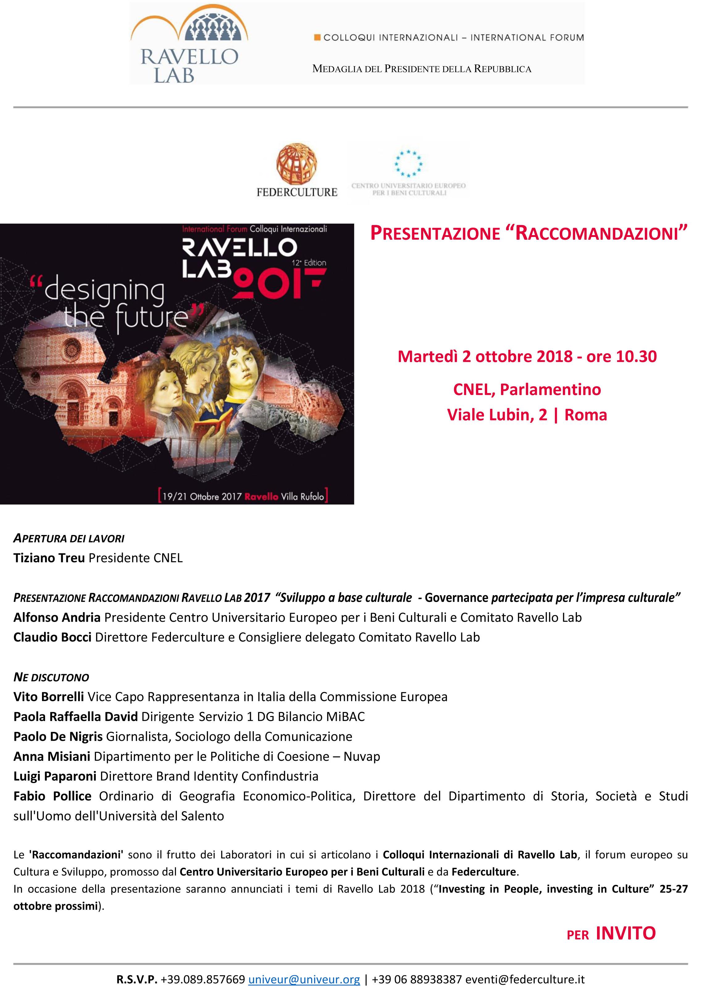 Locandina_Invito 2 ottobre_Ravello Lab