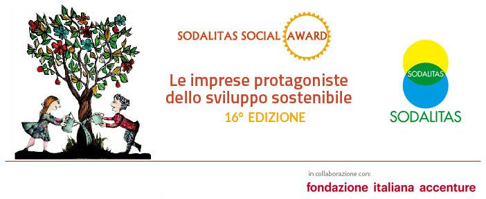 16^ edizione del Sodalitas Social Award - 9 ottobre 2018 - dalle ore 9.30 alle 12.30 - Auditorium di Assolombarda - via Pantano 9 - Milano