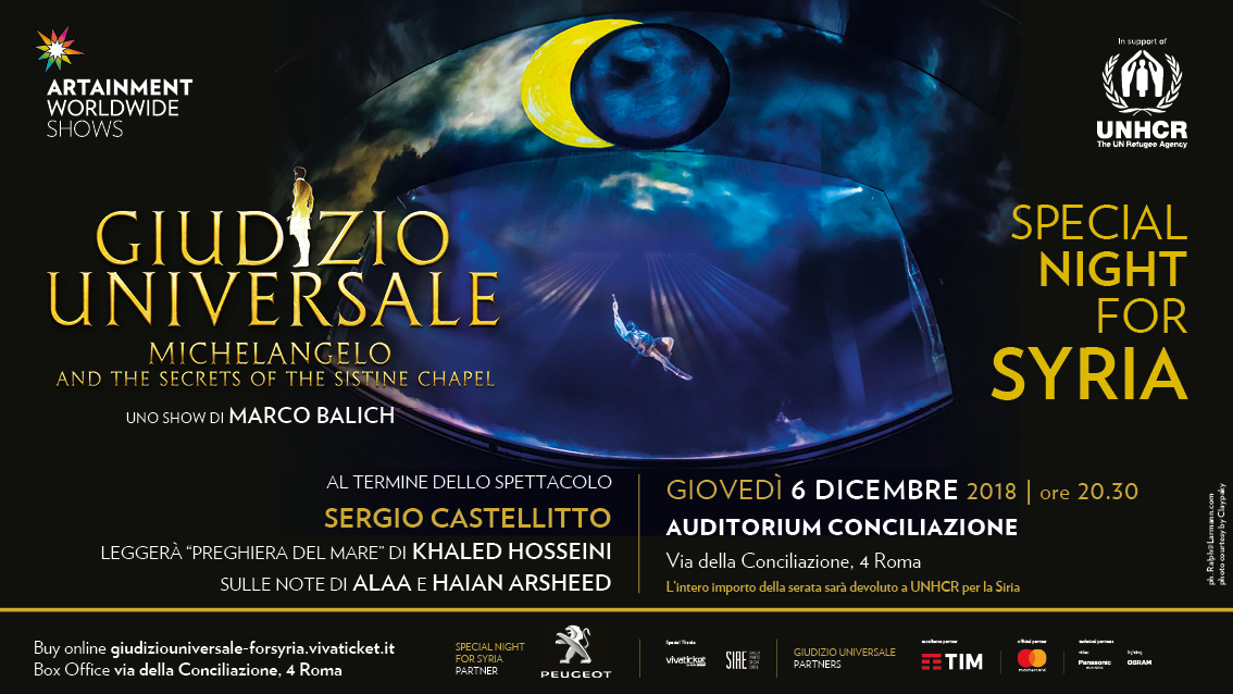 """Special Night for Syria"" - 6 dicembre 2018 - Auditorium Conciliazione di Roma"