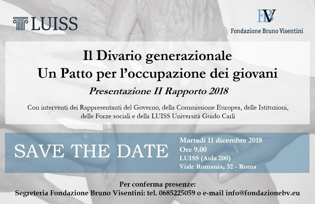 Save the date - Convegno Divario Generazionale - 11.12.18