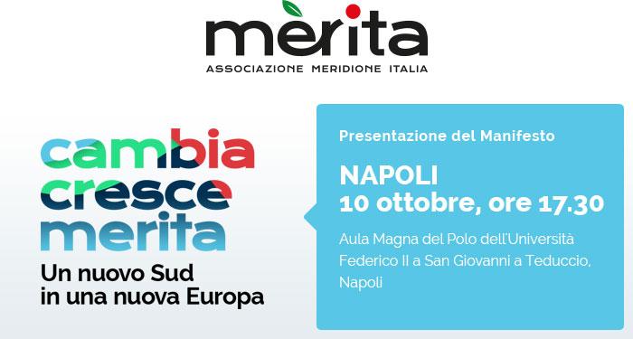 """""""Cambia Cresce Merita"""" - 10 ottobre 2019 - ore 17.30 - Aula Magna del Polo dell'Università Federico II - San Giovanni a Teduccio - Napoli"""