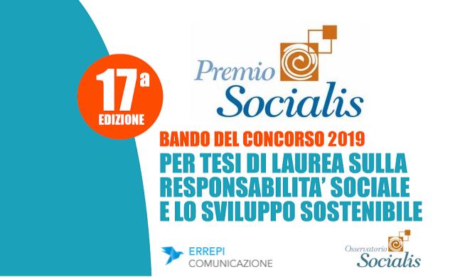 """Premio Socialis"": Apre il Bando 2019"