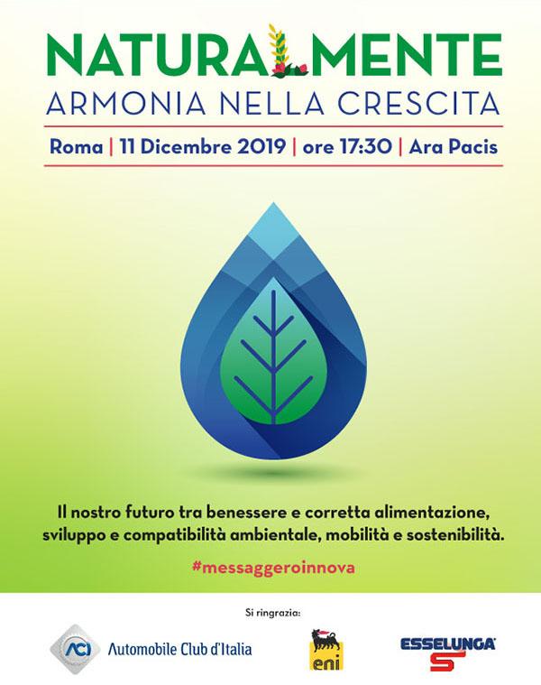 Incontri Messaggero: NaturalMente - 11 dicembre 2019 - ore 17.30 - Ara Pacis - Roma