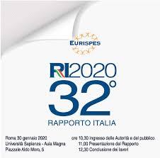 """32° """"Rapporto Italia 2020"""" - 30 gennaio 2020 - ore 11,00 - 'Aula Magna della Sapienza Università di Roma - piazzale Aldo Moro, 5 - Roma"""