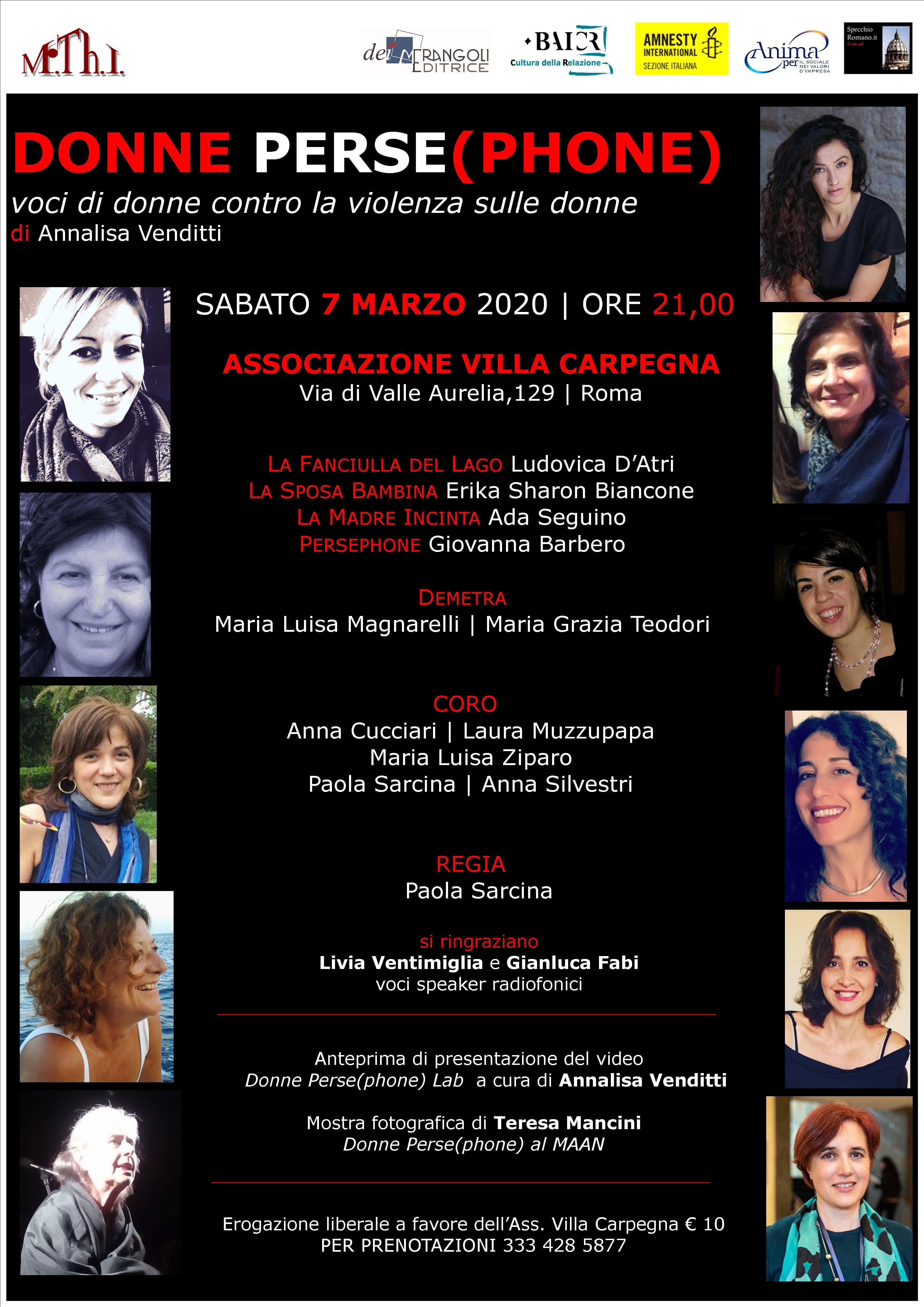 Locandina verticale Donne Persephone 7 mar2020