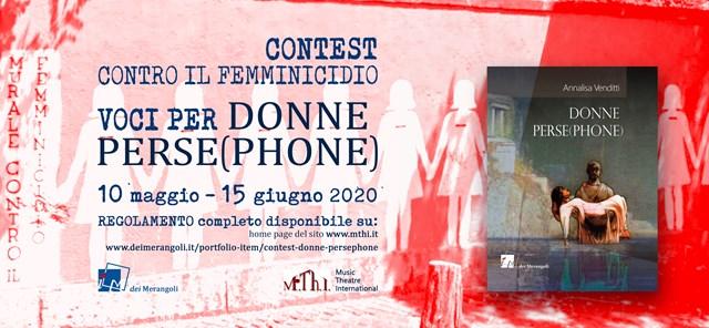 #VociperDonnePersephone - Voci conto la violenza sulle donne - contest video - a partecipazione spontanea - fino al 15 giugno 2020
