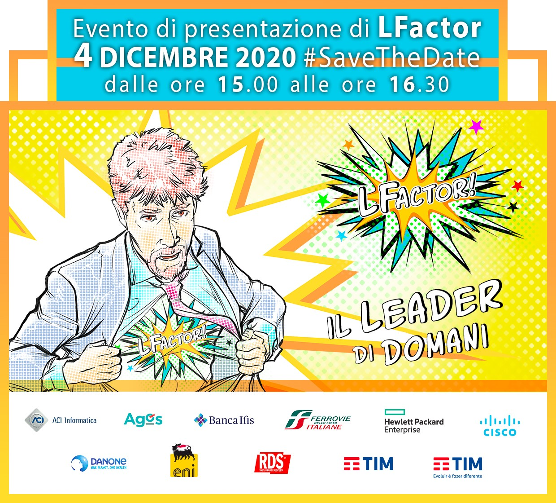 LFactor: un nuovo approccio alla leadership - 4 dicembre 2020 - ore 15 - diretta streaming dall'Aula Multimediale di TIM