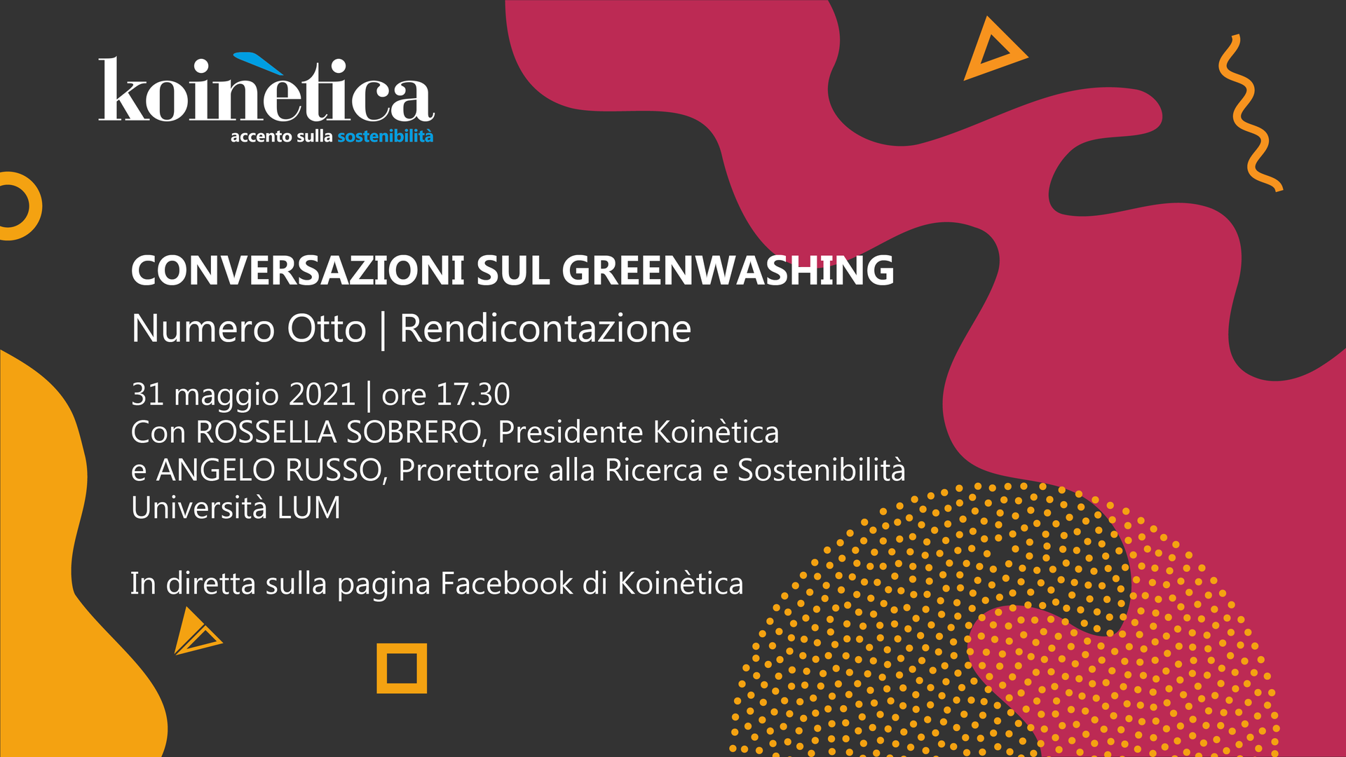 CONVERSAZIONI SUL GREENWASHING - Focus rendicontazione -31 maggio 2021 - ore 17.30